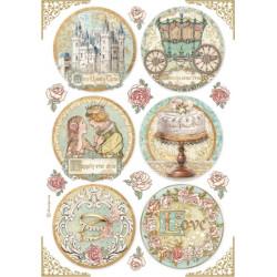 Papír rýžový A4 Sleeping Beauty, 6 kulatých obrázků