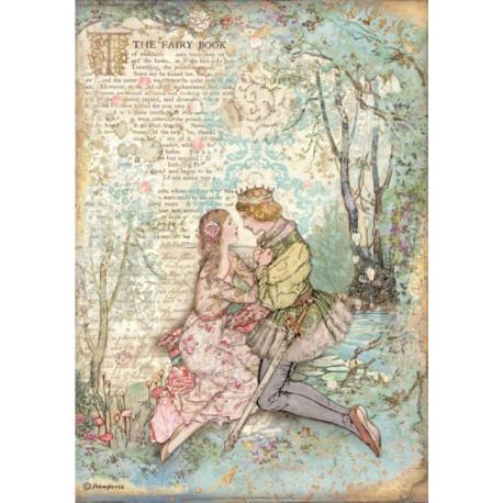 Papír rýžový A4 Sleeping Beauty, zamilovaní