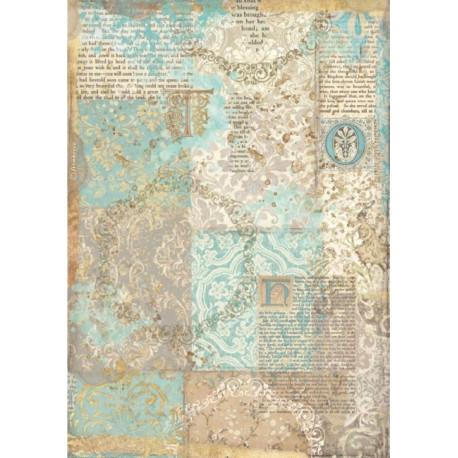 Papír rýžový A4 Sleeping Beauty, patchwork
