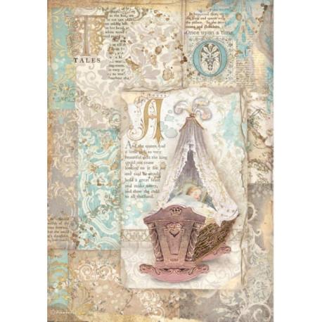 Papír rýžový A4 Sleeping Beauty, kolébka