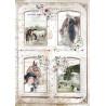 Papír rýžový A4 Horses, 4 obrázky