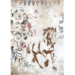 Papír rýžový A4 Horses, ve cvalu