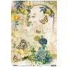 Papír rýžový A4 Arch w. roses & Butterflies New Awakening nr.12 (SL)