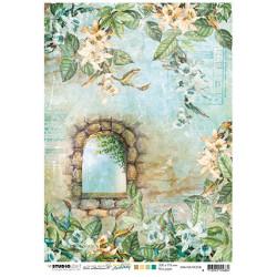 Papír rýžový A4 Stone window, orchids New Awakening nr.08 (SL)