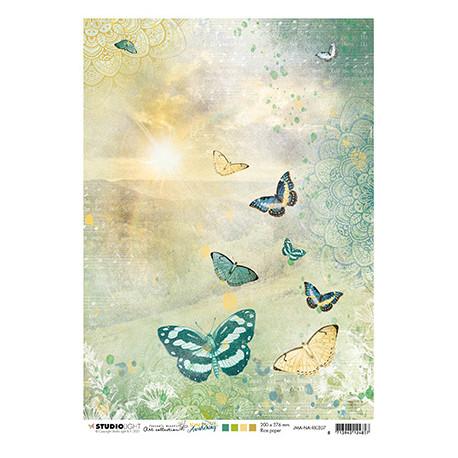 Papír rýžový A4 Sunrise, butterflies New Awakening nr.07 (SL)