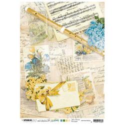 Papír rýžový A4 Flute, sheet music, notes New Awakening nr.02 (SL)