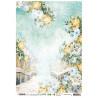 Papír rýžový A4 Bridge/stairs with flowers New Awakening nr.01 (SL)