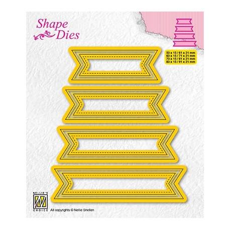 Vyřezávací šablony - Sety čtyř štítků - typ 4 (Shape Dies)