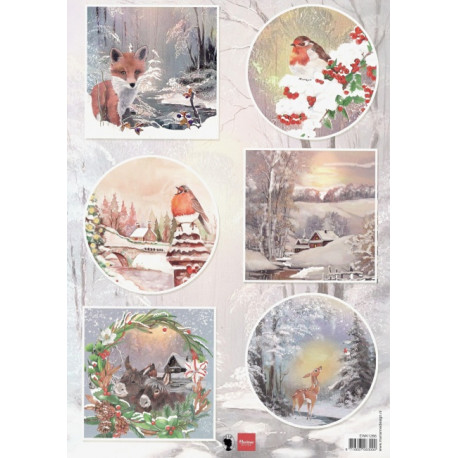 Papír A4 Winter wishes - Fox (MD)