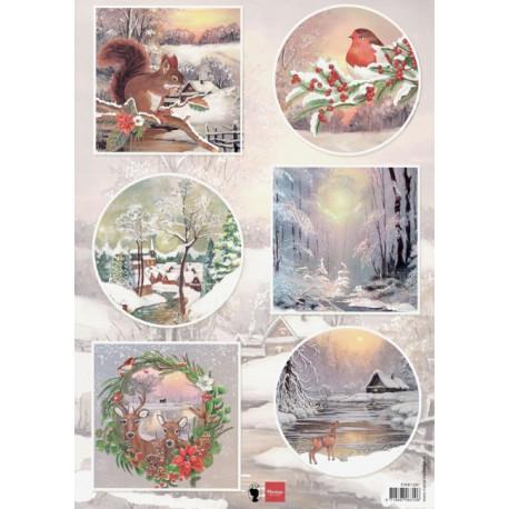 Papír A4 Winter wishes - Squirrel (MD)