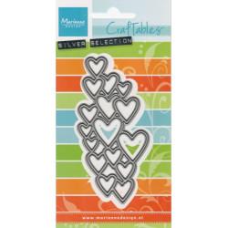 Vyřezávací šablona - Textura srdce (MD)