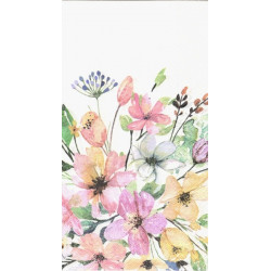 Květy akvarel 33x40