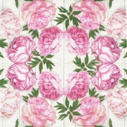 Růžové květy 25x25