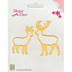 Vyřezávací šablona - Srnec a jelen Shape Dies