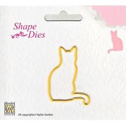 Vyřezávací šablona - kočička Shape Dies
