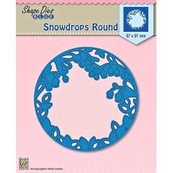 Vyřezávací šablona vnitřní - sněženky v kruhu (Nellie´s Choice)