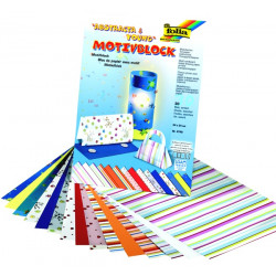 Blok vzorovaných papírů 30 listů - ABSTRACTA