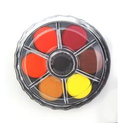 Vodové barvy v kulaté krabičce - 12 barev