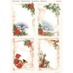 Papírové výřezy 3D - Vánoční motivy v bílé (2 listy)