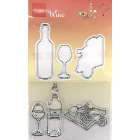 Vyřezávací šablony a razítka - Víno (MD)