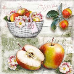 Košík s jablky 33x33