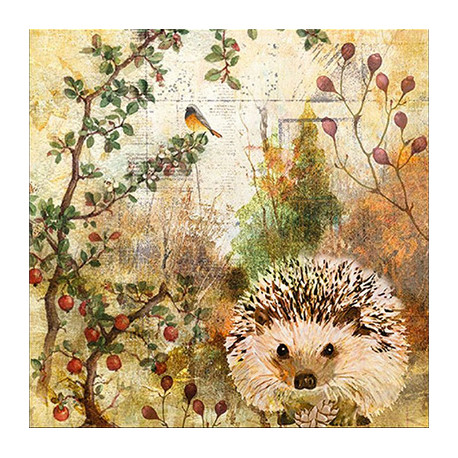 Podzimní s ježkem 33x33