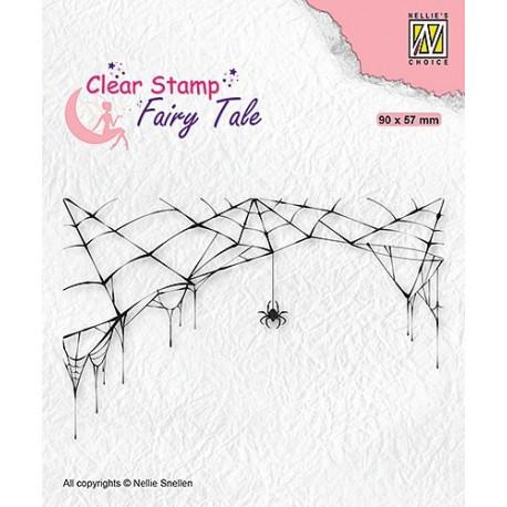 Transp.razítko - pavučina a pavouk (Nellie´s Choice)