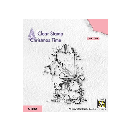 Transp.razítko Vánoční čas - doručené dárky (Nellie´s Choice)
