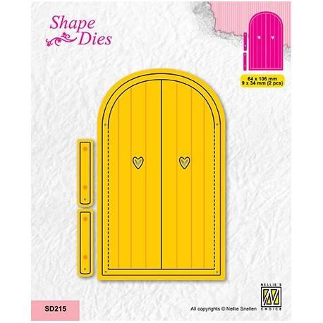 Vyřezávací šablony - otevírací dveře (Nellie´s Choice)