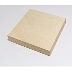 Dřevěná krabička na CD 14x14x2,5 bez kolíčku