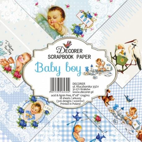 Sada papírů Baby boy 20x20 (Decorer)