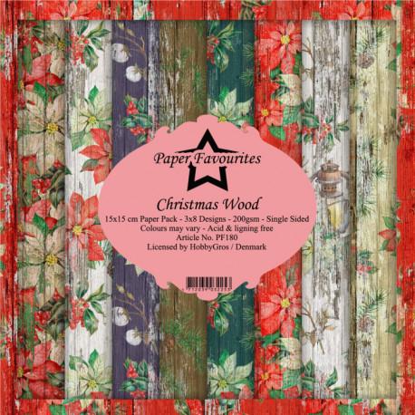 Sada papírů 15x15 Christmas Wood (PF)