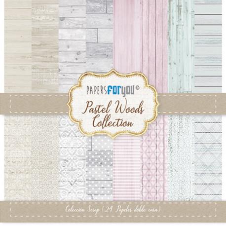 Sada papírů 17x17 Pastel Woods (Papers For You)