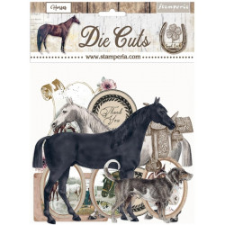 Sada kartonových výseků Horses (DFLDC40)