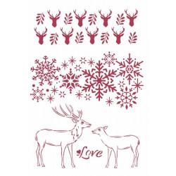 Šablona - Winter Tales, Love A4 (KSG478)