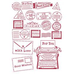 Šablona - Romantic Christmas, psací stroj A4 (KSG472)