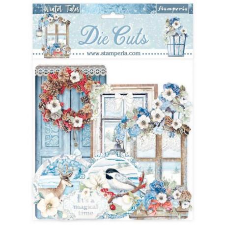 Sada kartonových výseků Winter Tales (DFLDC41)