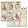 Pink Christmas, kartičky 30,5x30,5 scrapbook