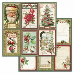 Merry Christmas, kartičky 30,5x30,5 scrapbook