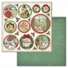 Merry Christmas, kulaté obrázky 30,5x30,5 scrapbook