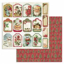 Merry Christmas, visačky 30,5x30,5 scrapbook