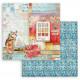 Christmas Patchwork, kočka 30,5x30,5 scrapbook