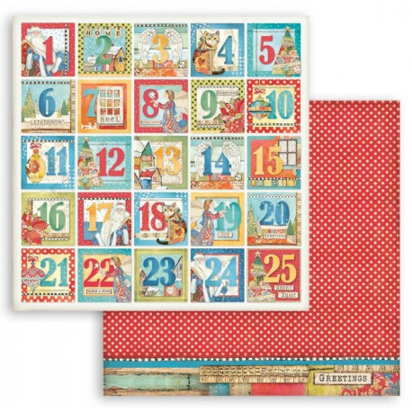 Christmas Patchwork, adventní kalendář 30,5x30,5 scrapbook