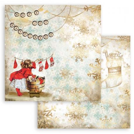 Romantic Christmas, ponožky 30,5x30,5 scrapbook