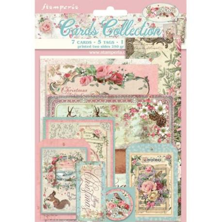 Sada kartiček Pink Christmas (SBCARD08)