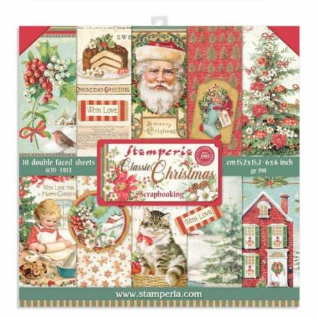 Sada papírů 15,2x15,2 190g Classic Christmas