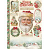 Papír rýžový A4 Classic Christmas, Santa