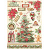 Papír rýžový A4 Classic Christmas, vánoční strom