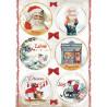 Papír rýžový A4 Romantic Christmas, kulaté obrázky
