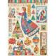 Papír rýžový A4 Christmas Patchwork, vánoční motivy